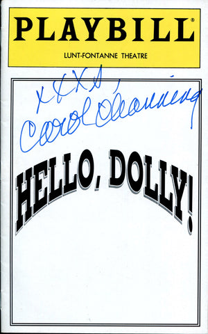"Carol Channing Autographed ""Hello, Dolly!"" Playbill Program"