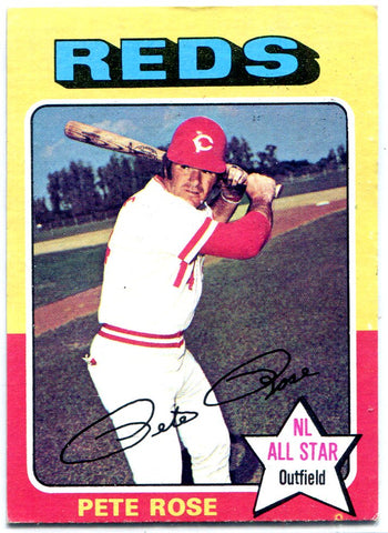 Pete Rose 1975 Topps Card #320