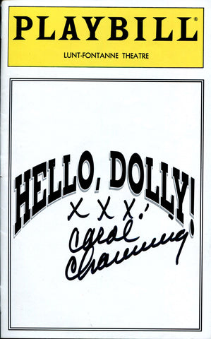 "Carol Channing Autographed ""Hello, Dolly!"" Program"