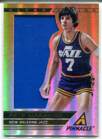 Pete Maravich 2013-14 Panini Pinnacle Clear Vision Jersey Card #85