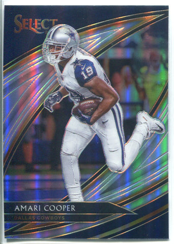 Amari Cooper 2019 Panini Select Silver Prizm Field Level Card