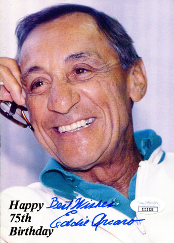 Eddie Arcaro Autographed Color 5x8 Photo (JSA)