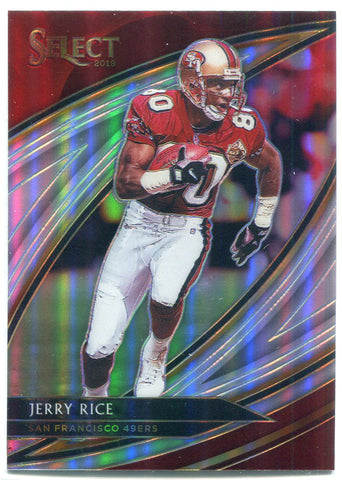 Jerry Rice 2019 Panini Select Silver Prizm Field Level Card