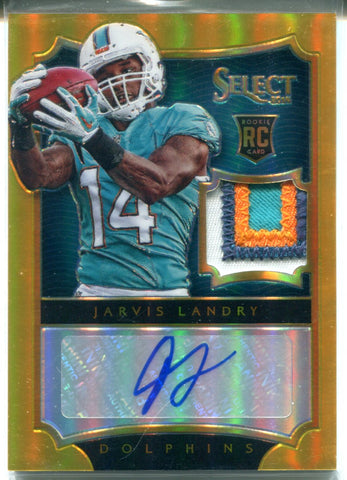 Jarvis Landry Autographed 2014 Panini Select Prizm Rookie Jersey Patch Card