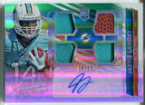 Jarvis Landry Autographed 2014 Panini Absolute Football Rookie Jersey Patch Card