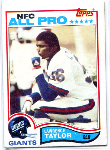 Lawrence Taylor 1982 Topps Unsigned NFC All Pro
