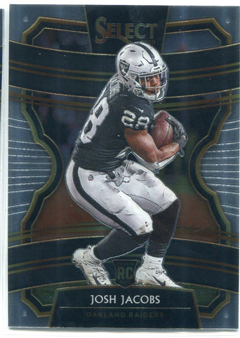 Josh Jacobs 2019 Panini Select Concourse Rookie Card