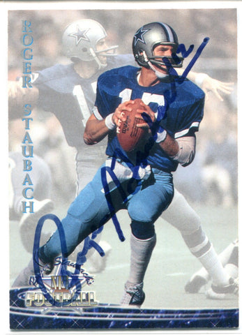 Roger Staubach Autographed 1994 Ted Williams Card