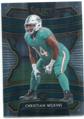 Christian Wilkins 2019 Panini Select Concourse Rookie Card