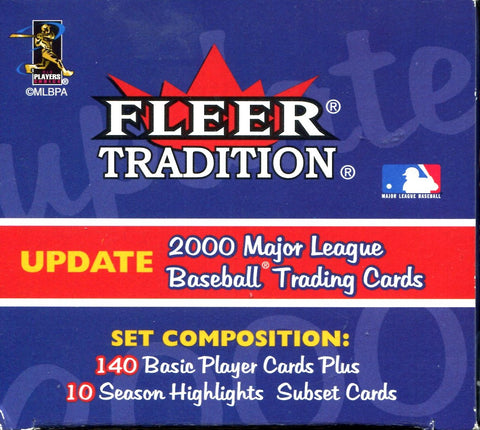 2000 Fleer Tradition Baseball Complete Set