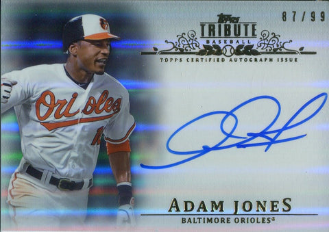 Adam Jones 2013 Topps Tribute Autographed Card