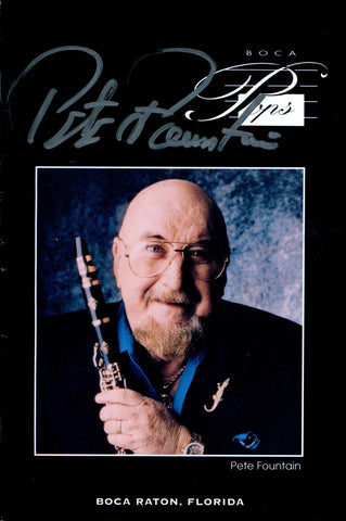 Pete Fountain Autographed Boca Pops Music Program