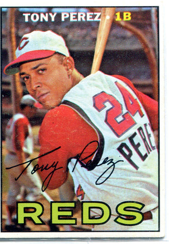 Tony Perez 1967 Topps Unsigned Card
