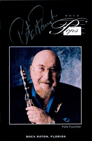 Pete Fountain Autographed Boca Music Program