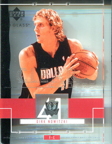 Dirk Nowitzki 2000 Upper Deck Glass Mirrors Card