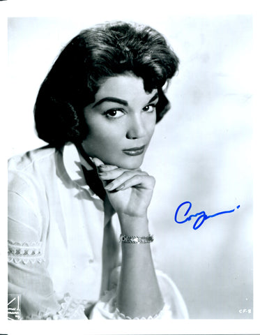 Connie Francis Autographed B&W 8x10 Photo