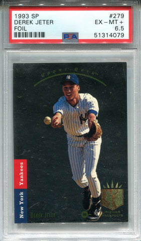 Derek Jeter 1993 Upper Deck Sp Rookie Card (PSA 6.5)