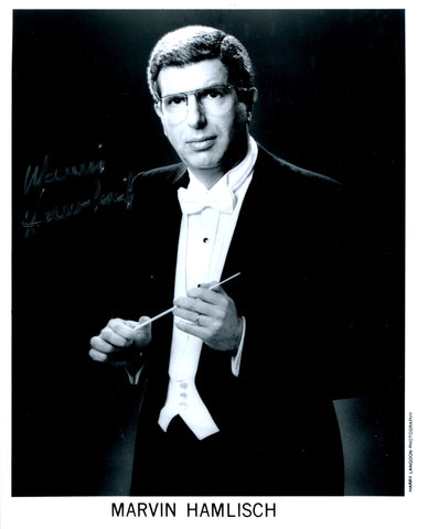 Marvin Hamlisch Autographed Black & White 8x10 Photo