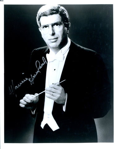 Marvin Hamlisch Autographed B&W Celebrity 8x10 Photo