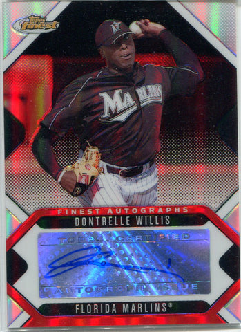 Dontrelle Willis 2006 Topps Finest Autographed Card