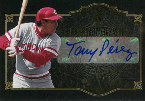 Tony Perez 2007 Upper Deck SP Legendary Cuts Autographed Card