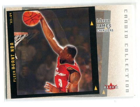 LeBron James 2003-04 Fleer Avant Candid Collection Rookie Card (PSAEX-MT 6)