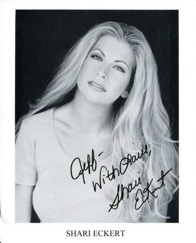 Shari Eckert Autographed Black & White 8x10 Photo
