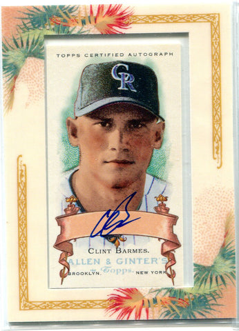 Clint Barmes 2006 Allen & Ginter's Autographed Card