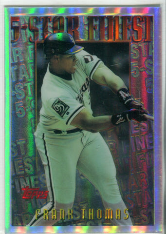 Frank Thomas 1996 Topps 5 Star Finest Card