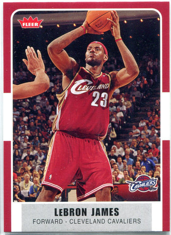 LeBron James 2007-08 Fleer Card