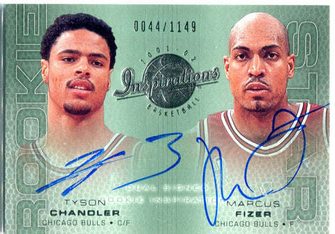 Tyson Chandler & Marcus Fizer 2002 Upper Deck Dual Autographed Card #44/1149