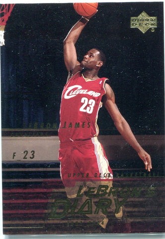 LeBron James 2003 Upper Deck Unsigned Card