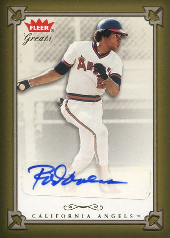 Rod Carew 2004 Fleer Greats Autographed Card