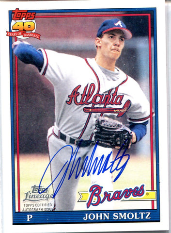 John Smoltz 2011 Topps Lineage Autographed Card