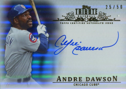 Andre Dawson 2013 Topps Tribute Autographed Card