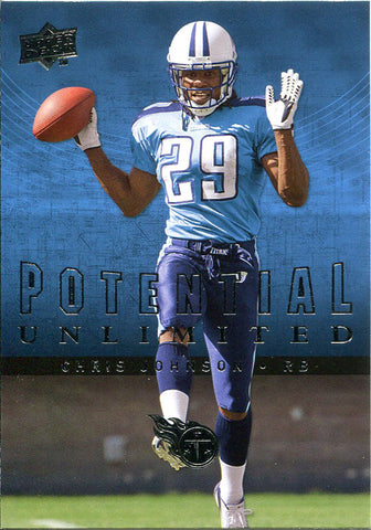 Chris Johnson Unsigned 2008 Upper Deck Rookie Card
