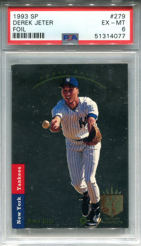 Derek Jeter 1993 Upper Deck Sp Rookie Card (PSA EX-MT 6)