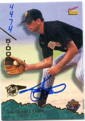 Todd Helton 1995 Signature Rookies Autographed Card #4474/5000