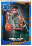 Jayson Tatum 2017-18 Panini Donruss Rated Rookie Card