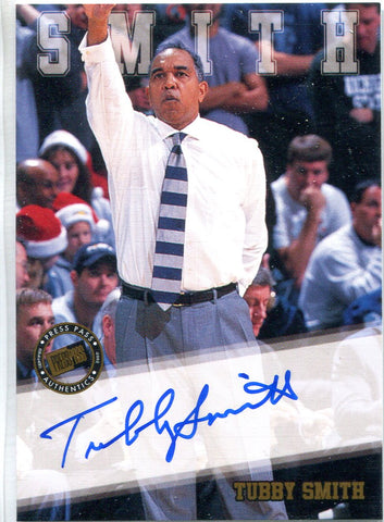 Tubby Smith 2002 Press Pass Autographed Card