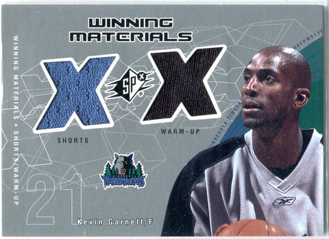 Kevin Garnett 2002 Upper Deck Game-Worn Dual Patch Card