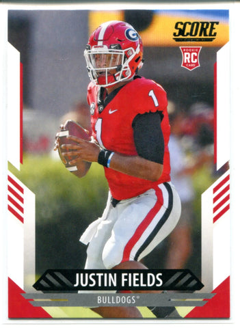 Justin Fields 2021 Panini Score Rookie Card #360