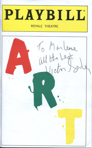 Victor Garber Autographed Art Playbill Program