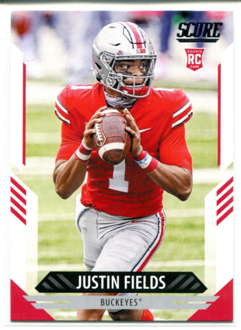 Justin Fields 2021 Panini Score Rookie Card #302