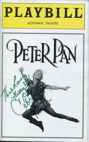 Cathy Rigby Autographed Peter Pan Playbill Program