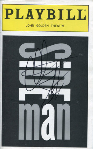Christian Slater Autographed Side Man Playbill Program