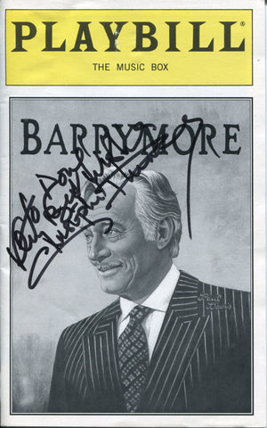 Christopher Plummer Autographed Barrymore Playbill Program