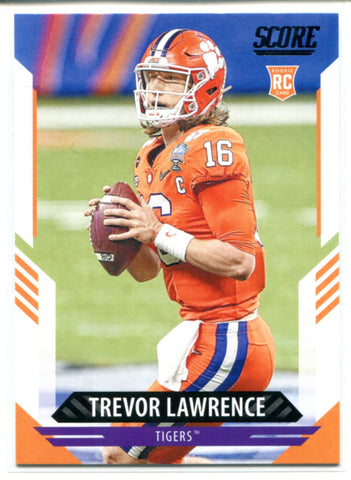Trevor Lawrence 2021 Panini Score Rookie Card #301