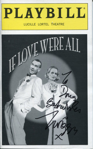 Twiggy Autographed If Love Were All Playbill Program