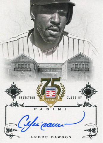Andre Dawson 2014 Panini Autographed Card
